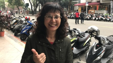 "Taiwanese housewife Yang Lo-hsia, who said Trump's call to Taiwan's president was a ""beam of new hope."""