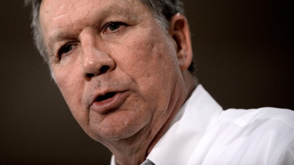 John Kasich speaks during a town hall-style campaign stop at the Crowne Plaza on April 19, 2016 in Annapolis, Maryland.