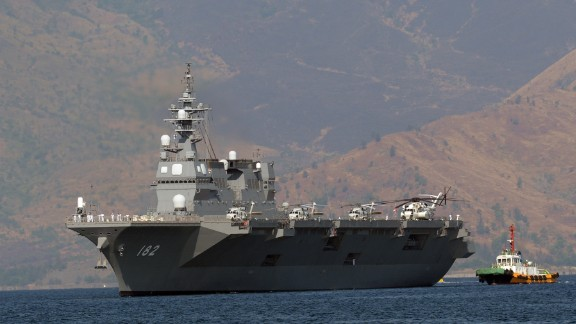 Japanese helicopter carrier Ise, one of Japan