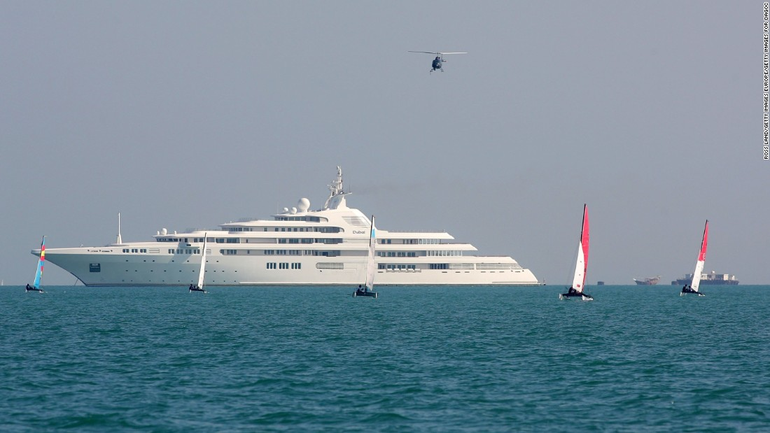 Eclipse is only half a meter longer than this vessel owned by Sheikh Maktoum, the ruler of Dubai.