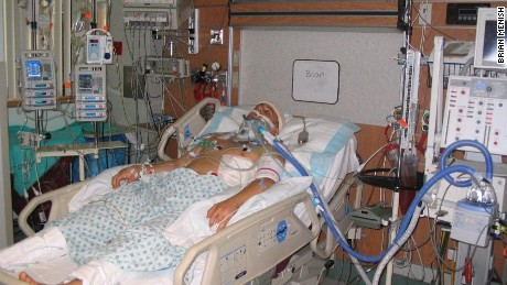 Brian Menish in 2007 after a devastating motorcycle accident.