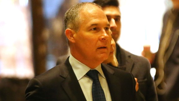 Oklahoma Attorney General Scott Pruitt arrives at Trump Tower on December 7, 2016 in New York City.