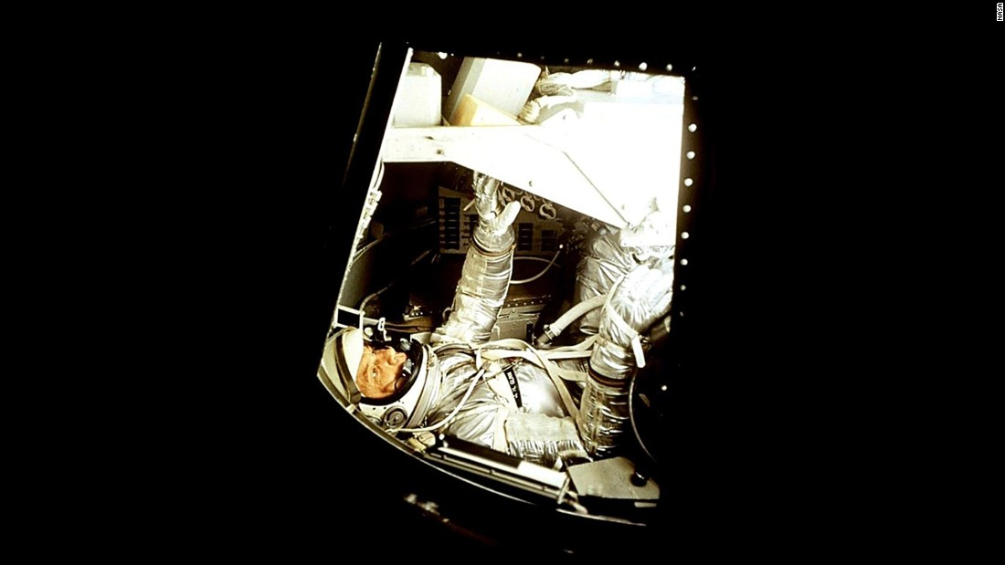 Glenn prepares for the Mercury-Atlas 6 flight. He would becomes the third American in space.