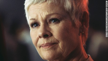 Actress Judi Dench played the head of MI6 in several James Bond films.
