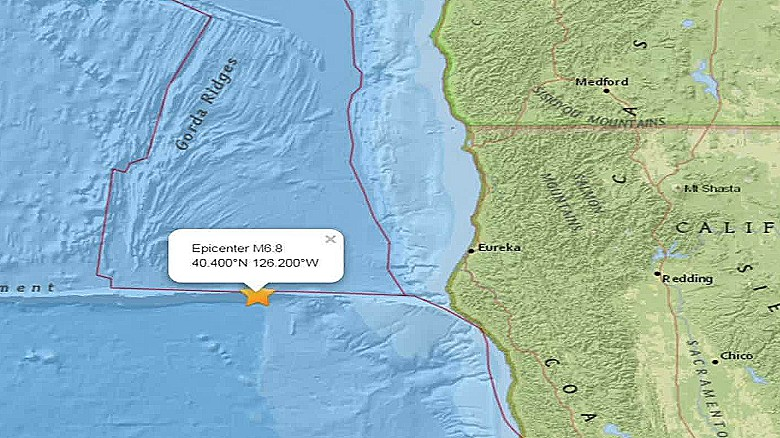 6 8-magnitude strikes off California coast