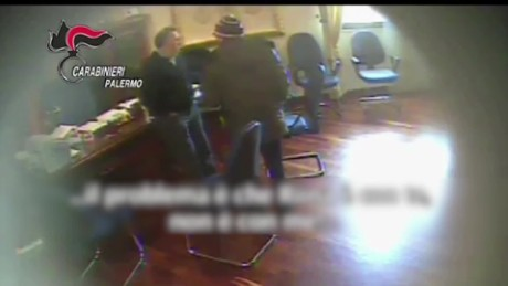 Italian police release undercover video of Maniaci