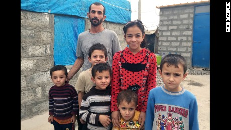 Mohammed Saleh ended up in a camp outside Irbil with his wife and children.