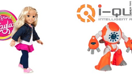 Consumer watchdog groups say Genesis Toys' My Friend Cayla doll and I-Que robot can spy on children.