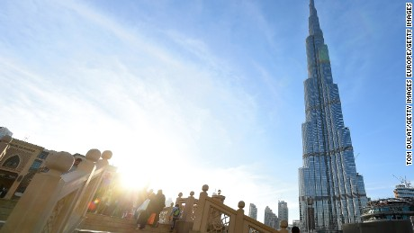 DUBAI, UNITED ARAB EMIRATES - NOVEMBER 09:  A general view of Burj Khalifa on November 9, 2016 in Dubai, United Arab Emirates.  (Photo by Tom Dulat/Getty Images)