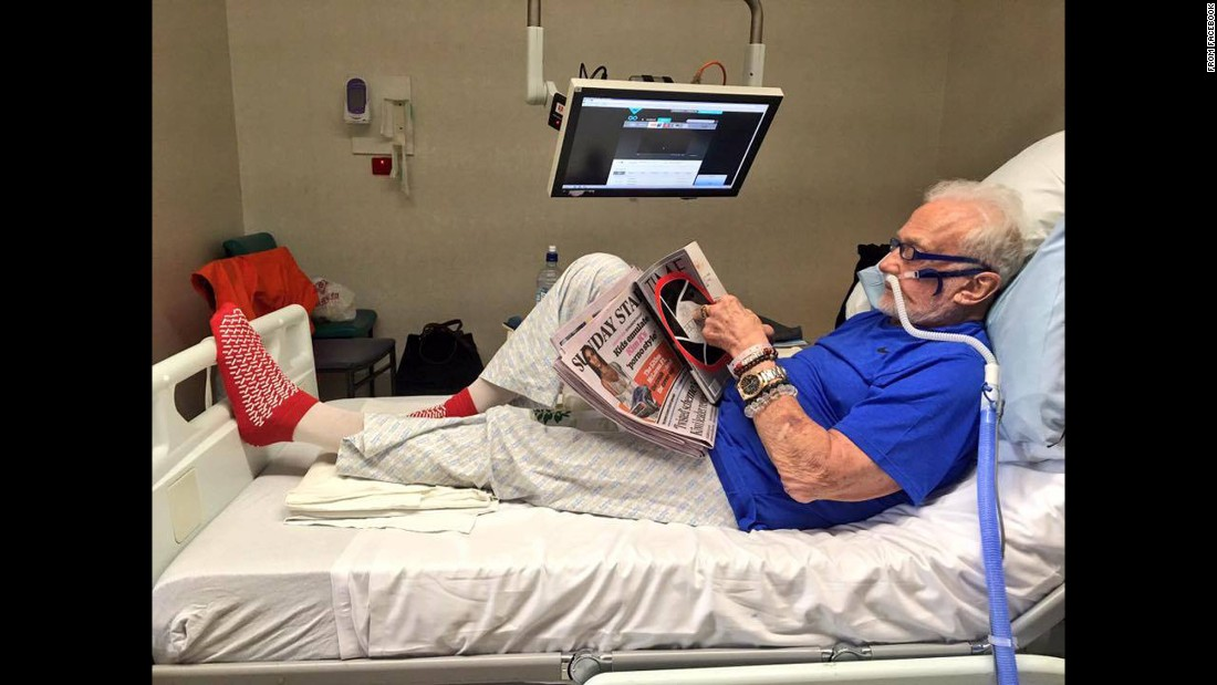 "Former astronaut Buzz Aldrin reads in his hospital bed in Christchurch, New Zealand, on Sunday, December 4. This photo was posted on Aldrin's social media accounts. ""Catching up on the world while I'm stuck in quarantine. Apparently @KimKardashian is out in public again,"" <a href=""https://www.facebook.com/buzzaldrin/photos/pb.22166949580.-2207520000.1481213305./10154805004309581/?type=3&theater"" target=""_blank"">Aldrin's Facebook post read</a>. Aldrin, who is 86, was <a href=""http://www.cnn.com/2016/12/01/health/buzz-aldrin-south-pole-evacuation-trnd/"" target=""_blank"">evacuated from the South Pole</a> after his medical condition deteriorated, according to a release from the National Science Foundation."