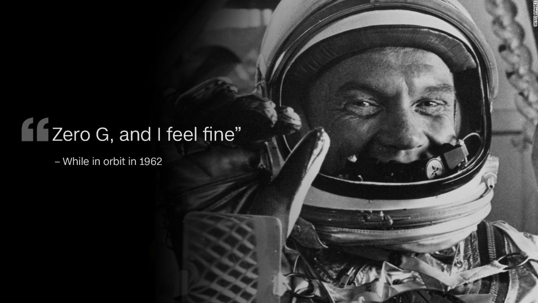 John Glenn Quotes Thoughts From Space Earth