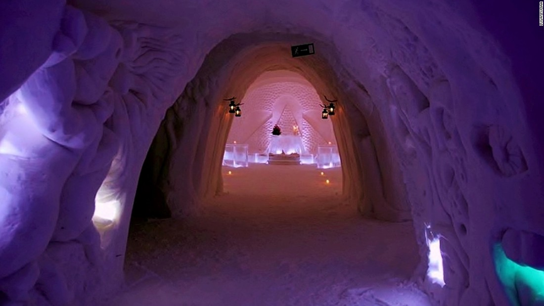 It is located near Levi, northern Finland, and has proved a popular destination for holiday-goers in search of a winter retreat.