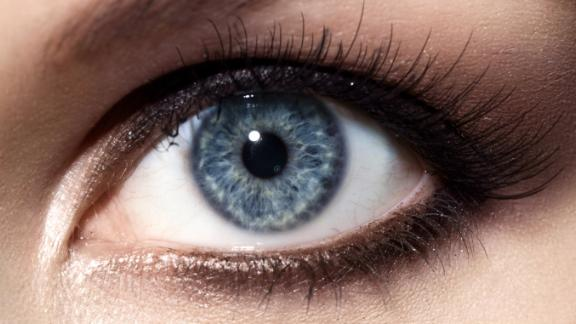 blue eye  Stock Photo: Close-up of make up smoky eyes for blue eyes with, long eyelashes and brown eyebrows  Image ID:495920326 Copyright: BeautyStockPhoto Release Information: Signed model release filed with Shutterstock, Inc
