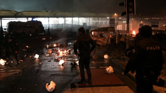 A car bomb was the source of the explosions, according to Turkish state-run news agency TRT, citing Interior Minister Suleyman Soylu.