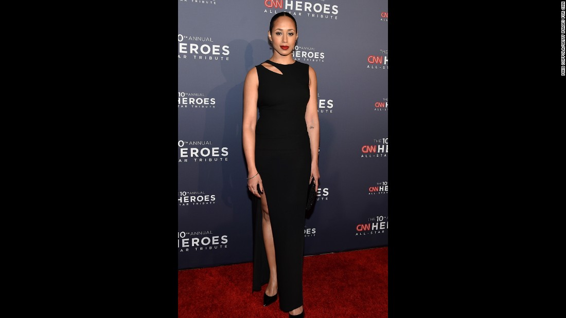 """Boardwalk Empire"" actress Margot Bingham walks the red carpet at the ""CNN Heroes All-Star Tribute"" Sunday."