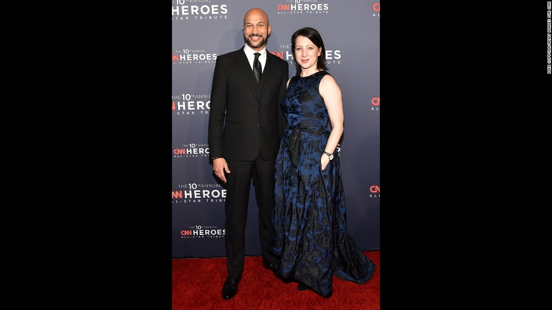 """Key & Peele"" comedian Keegan-Michael Key, left, and actress Elisa Pugliese"