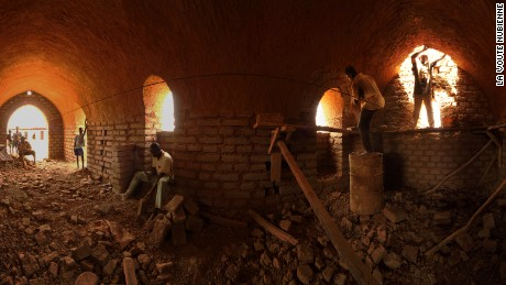Building site for a Nubian vault. Construction of the homes can be completed with 15 days.
