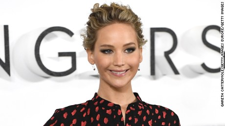 "LONDON, ENGLAND - DECEMBER 01:  Actress Jennifer Lawrence attends a photocall for the film ""Passengers""  at Claridge's Hotel on December 1, 2016 in London, England.  (Photo by Gareth Cattermole/Getty Images)"