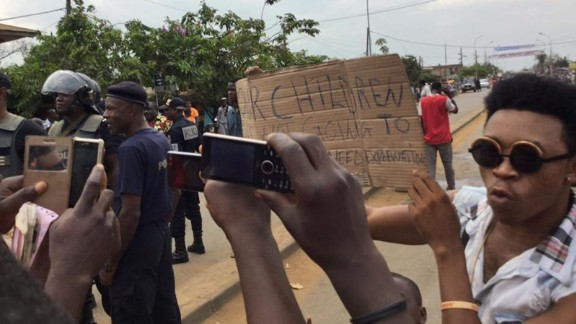 Activists rally in the city of Kumba, Cameroon, on December 9, 2016.
