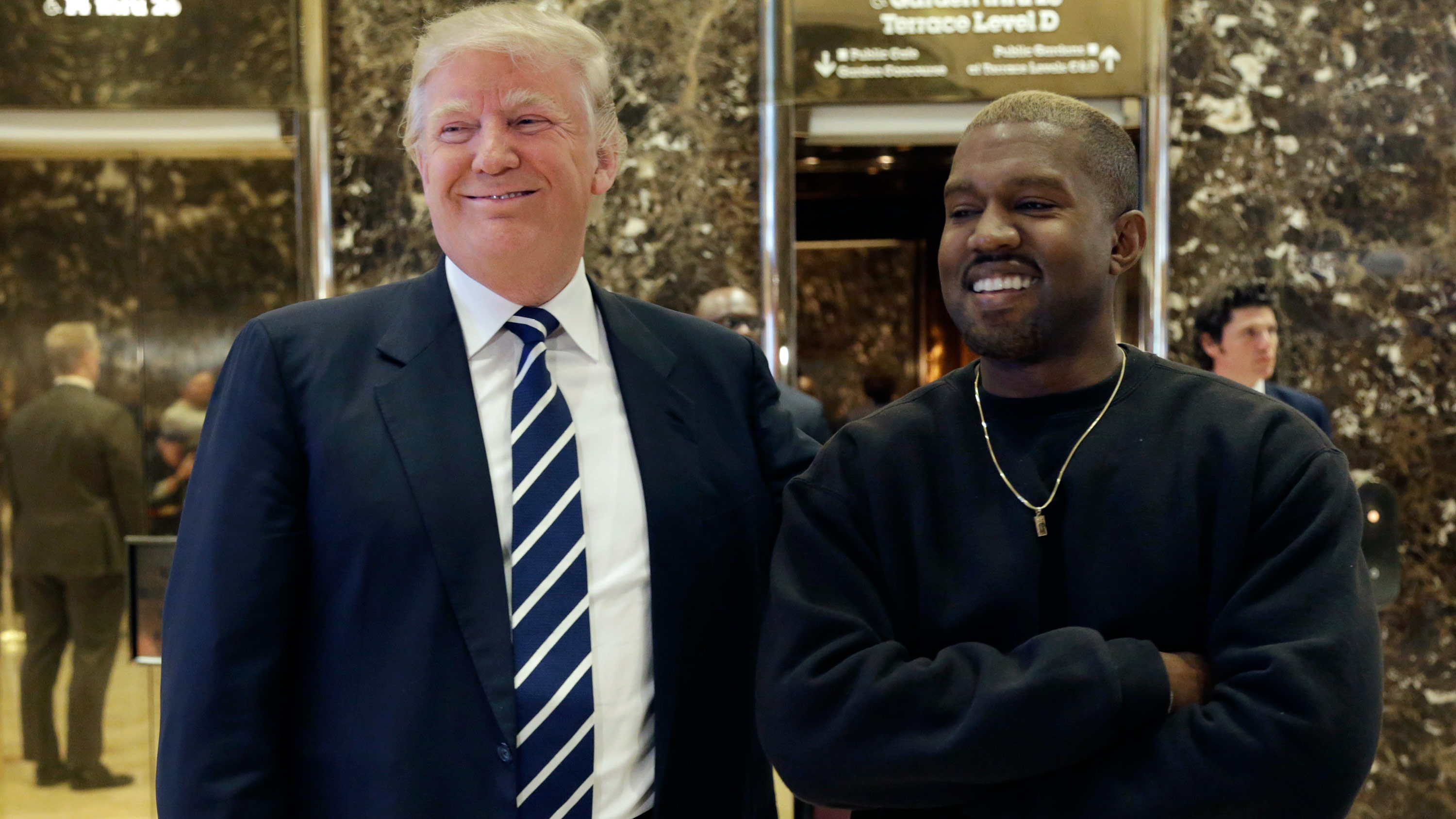 Image result for kanye and trump