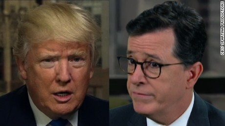 Donald Trump became the punch line of a controversial joke this week by Stephen Colbert.