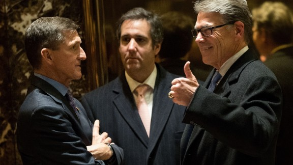 Trump selected former Texas Gov. Rick Perry, right, to be his nominee for energy secretary, which would make Perry the head of an agency he once suggested he would eliminate.
