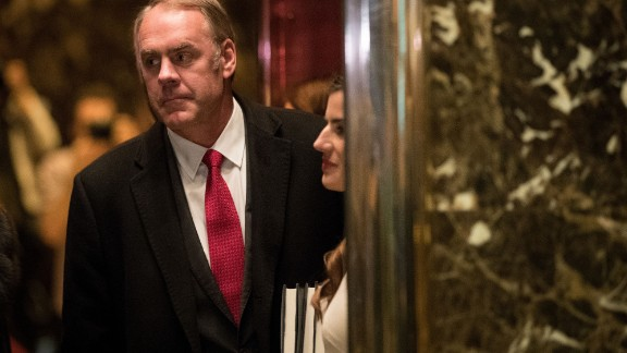 U.S. Rep. Ryan Zinke (R-MT) arrives at Trump Tower, December 12, 2016 in New York City. President-elect Donald Trump and his transition team are in the process of filling cabinet and other high level positions for the new administration.