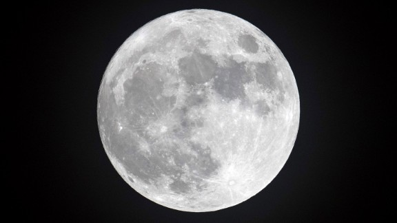 PENZANCE, ENGLAND - DECEMBER 13:  Clouds clear to allow a view of the final full moon of the year, a so-called