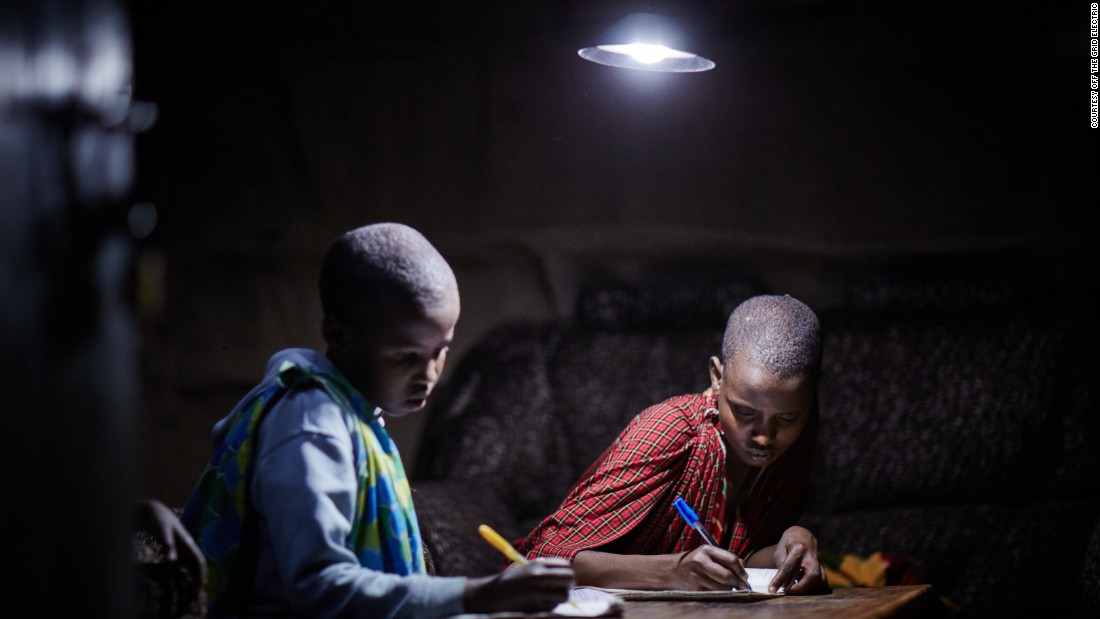 The program allows households to move away from burning kerosene to make light and heat, a life-changing upgrade.