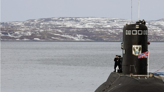 View of Russia's Northern Fleet base in the town of Severomorsk.