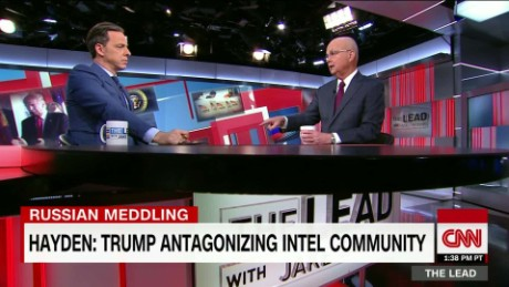 russia intel hacking former cia chief hayden trump putin lead tapper intv_00063505