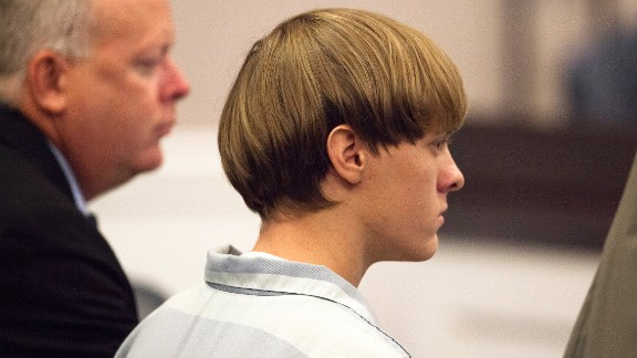 CHARLESTON, SC - JULY 16: Dylann Roof (R), 21, listens to proceeding with assistant defense attorney William Maguire during a hearing at the Judicial Center July 16, 2015 in Charleston, South Carolina. Roof is charged with murdering nine worshippers at a historic black church in Charleston last month. (Photo by Randall Hill - Pool/Getty Images)