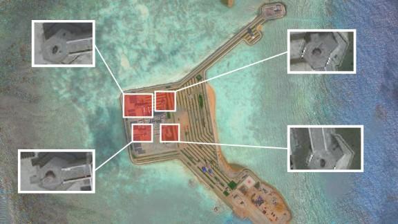A satellite image of Gaven reef taken on November 17.