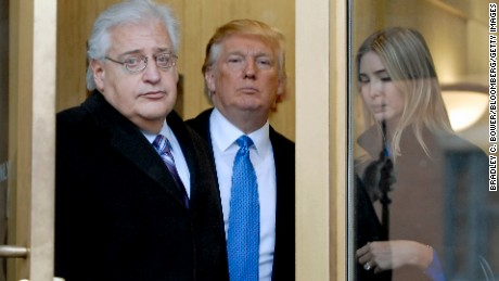 Billionaire real estate developer Donald J. Trump, center, his daughter Ivanka Trump, right, and attorney David Friedman exit U.S. Bankruptcy Court in Camden, New Jersey, U.S., on Thursday, Feb. 25, 2010. Trump said he switched sides in the court battle over three bankrupt Atlantic City casinos that bear his name because he concluded he was losing to noteholders led by Avenue Capital Group's Marc Lasry. A judge will determine whether rival billionaire Carl Icahn or the noteholders and Trump will control the casinos. Photographer: Bradley C. Bower/Bloomberg via Getty Images