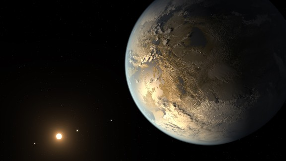 When working on the concept for Kepler-186f, the first Earth-size planet in the habitable zone that could support liquid water on its surface, Pyle was careful to make it look less inviting than our own Earth, in case it was misconstrued as a friendly, habitable place. They made sure it was more muddy brown rather than green and blue.