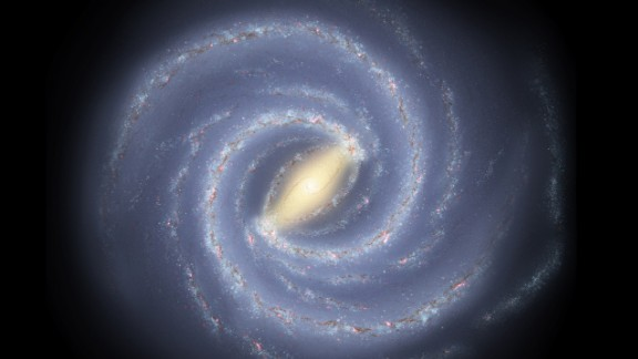 """Probably the most famous graphic I've done is a top-down view of what the Milky Way would look like if we could go outside our galaxy and look at it,"" Hurt said. ""The irony is, we live inside it, you think we would know it better than anything, but it turns out that's not so true. It's like being dropped down in Times Square and being asked to draw a map of all of Manhattan."""