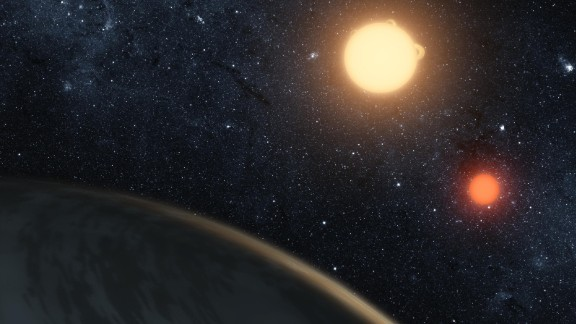 "Artists such as Tim Pyle and Robert Hurt create renderings of exoplanets and other things in the universe we may never be able to otherwise see. Sometimes, the reality of the data they're working with aligns with scenes from the ""Star Wars"" films, such as Pyle's rendering of the Kepler-16 binary star system that creates a double sunset like the one on Luke Skywalker's home world, Tatooine.   Click through to see more of their work."