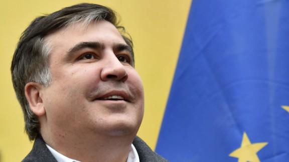 Former Georgian president Mikheil Saakashvili in Kiev on November 27, 2016.