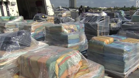 This file photo shows cocaine seized by the Coast Guard in 2016.