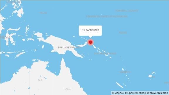 The Papua New Guinea region is vulnerable to techtonic disturbances. A 7.9-magnitude quake struck the area in 2016.