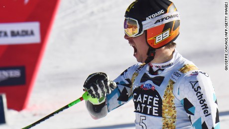 Marcel Hirscher claimed his first giant slalom victory of the season and his fourth straight at Alta Badia.