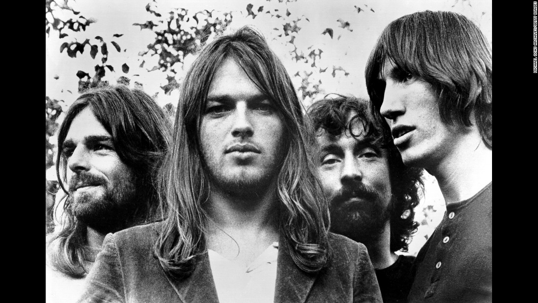 "Progressive rock... psychedelic rock ... call it what you want, but before you define this band, you should experience it. Britain's Pink Floyd formed in 1965 and by the '70s they were giving the world masterpiece albums like ""The Dark Side of the Moon,"" ""Wish You Were Here"" and ""The Wall,"" which sold  23 million units in the US all by itself.  This 1973 photo, taken after founding member Syd Barrett left the band, shows from left to right: keyboardist Rick Wright, singer/guitarist Dave Gilmour, drummer Nick Mason and singer/songwriter/bassist Roger Waters. Overall, Pink Floyd has sold 75 million units nationwide, according to the RIAA."