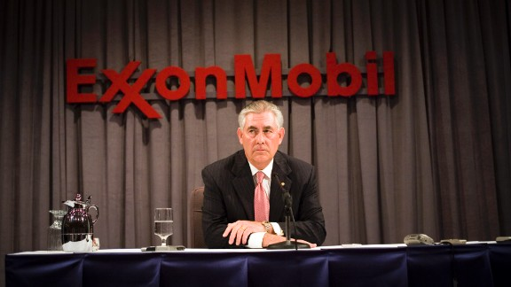 Rex Tillerson, pictured in 2008, has worked for ExxonMobil for the last four decades and has steered the giant global firm since 2006.