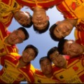 china rugby team huddle