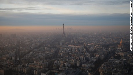 European cities like Paris are generally less polluted than Asian cities but bad air days are increasingly common.