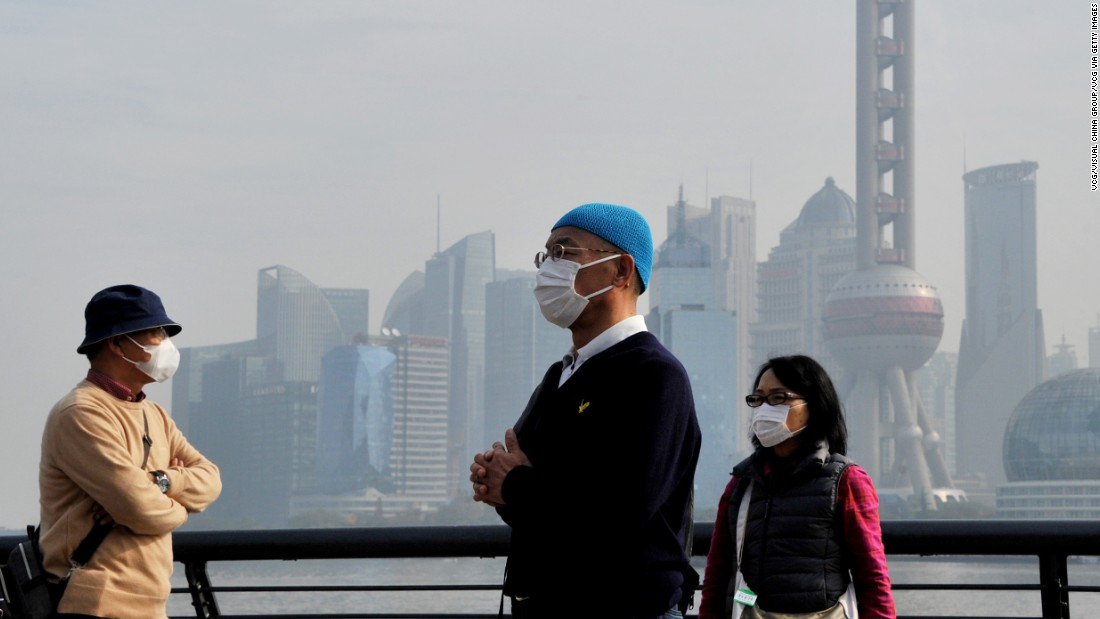 Shanghai residents wear masks to protect themselves from air pollution earlier this month. Asia and particularly parts of China suffer from bouts of extreme air pollution.