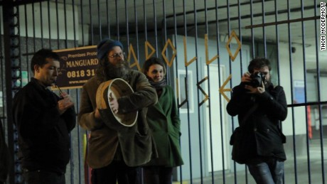 Activists played Irish rebel ballads after taking over the building in Dublin city center last week.
