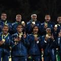 fiji team celebrate