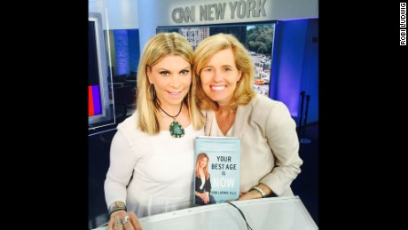 "Robi Ludwig, author of ""Your Best Age is Now,"" and CNN's Kelly Wallace at CNN's studios this summer"