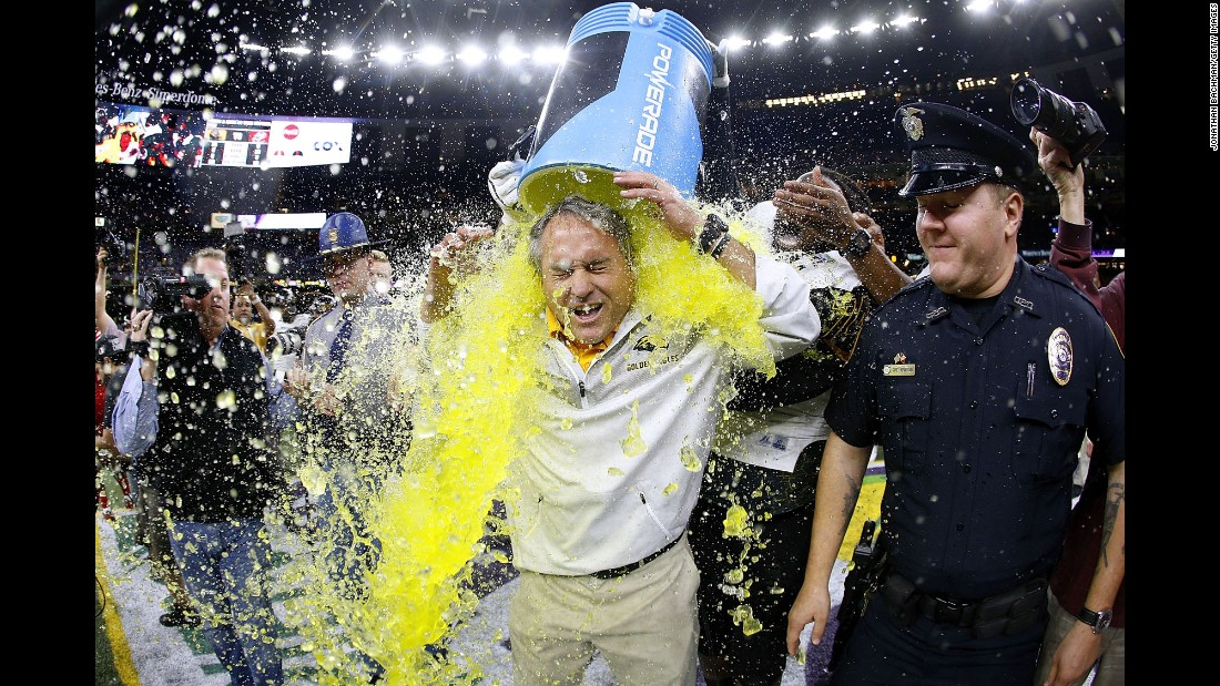 "Southern Miss head coach Jay Hopson is doused after his team won the New Orleans Bowl on Saturday, December 17. <a href=""http://www.cnn.com/2016/12/12/sport/gallery/what-a-shot-sports-1213/index.html"" target=""_blank"">See 36 amazing sports photos from last week</a>"